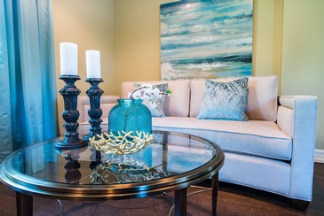 Living Room Accessories Lorne Park Home by Certified Interior Design Specialist