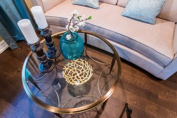 Living Room Coffee Table - Interior Design Consultant Oakville at Parsons Interiors Ltd.