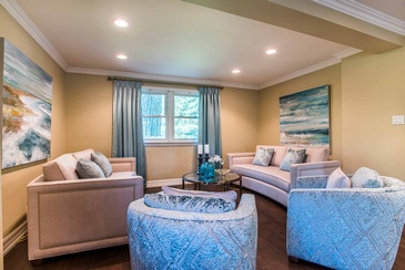 Living Room by Interior Design Consultants in Oakville ON at Parsons Interiors Ltd.