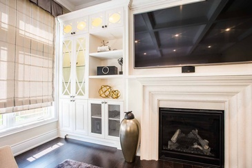 Family Room Accessories - Custom Cabinets Mississauga by Parsons Interiors Ltd.