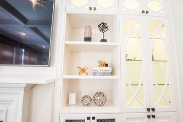 Accessories Wall Unit - Custom Cabinets Mississauga by Parsons Interiors Ltd.