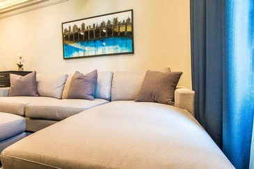 Boy's Bedroom Soft Furnishings - Custom Furnishings in Oakville by Parsons Interiors Ltd.