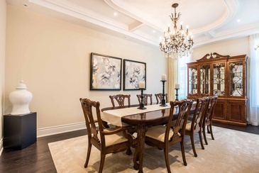 Dining Room Artwork - Wood Furniture Mississauga by Parsons Interiors Ltd.