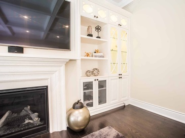 Family Room Wall Unit Accessories - Custom Cabinets Oakville by Parsons Interiors Ltd.