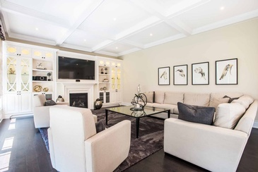 Family Room - Living Room Interior Design Mississauga ON by Parsons Interiors Ltd.