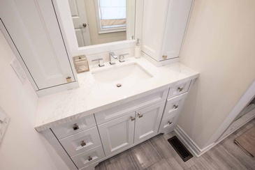 Girl's Bathroom Custom Cabinets Oakville by Parsons Interiors Ltd.