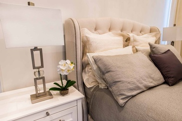 Girl's Bedroom Custom Headboard - Interior Design Oakville by Parsons Interiors Ltd.