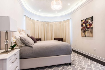 Girl's Bedroom Drapery - Interior Design Specialist Mississauga at Parsons Interiors Ltd.