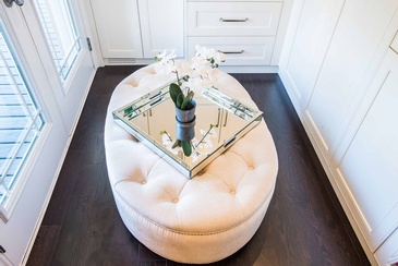 Girl's Bedroom Custom Ottoman - Interior Design Services Oakville by Parsons Interiors Ltd.