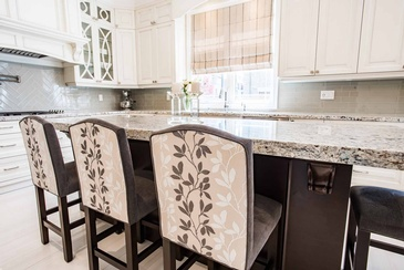 Kitchen Custom Counter Height Chairs - Design Studio Oakville by Parsons Interiors Ltd.