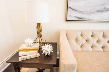 Living Room Accessories - Interior Design Consultation in Oakville ON by Parsons Interiors Ltd.