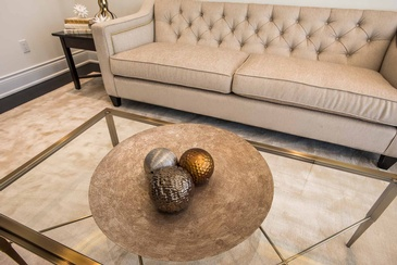 Living Room Coffee Table Accessories - Interior Decorating Services Mississauga by Parsons Interiors Ltd.