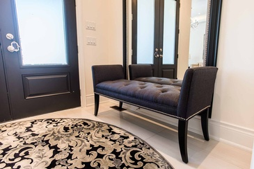 Main Foyer Bench by Design Studio Oakville - Parsons Interiors Ltd.
