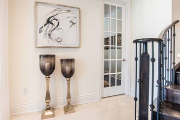 Main Foyer Accessories - Custom Home Decor in Oakville ON by Parsons Interiors Ltd.