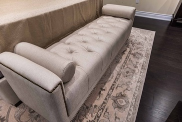 Master Bedroom Bench - Interior Design Specialists Oakville ON by Parsons Interiors Ltd.