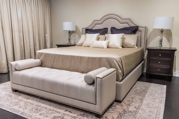 Master Bedroom Custom Headboard - Beds Oakville by Parsons Interiors Ltd.