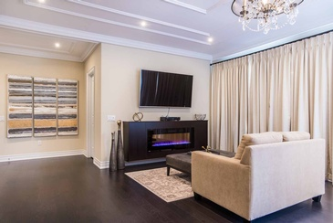 Master Bedroom Sitting Room - Interior Design in Oakville by Parsons Interiors Ltd.