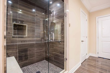 Master Ensuite Shower - Bathroom Design in GTA by Parsons Interiors Ltd.