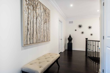 Second Floor Foyer Artwork - Interior Design Services in Mississauga by Parsons Interiors Ltd.