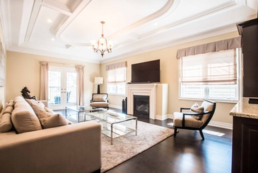 Second Floor Family Room - Interior Decorating Services Oakville by Parsons Interiors Ltd.