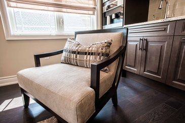 Second Floor Family Room Side Chair - Wood Furniture Mississauga by Parsons Interiors Ltd.