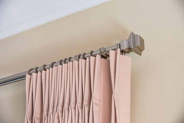 French Pleat Decorative Rod - Window Treatments Oakville by Parsons Interiors Ltd.