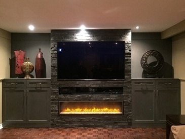 Fireplace Design in Mississauga by PARSONS INTERIORS LTD.