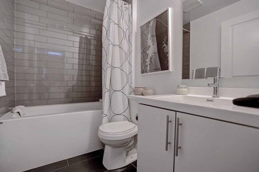 Condo Bathroom Design in Mississauga by Parsons Interiors Ltd.