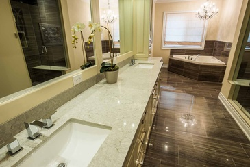 Mater Ensuite Bathroom Design in Oakville ON by Parsons Interiors Ltd.