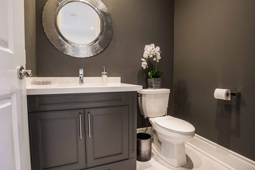 Powder Room - Bathroom Design Mississauga by Parsons Interiors Ltd.