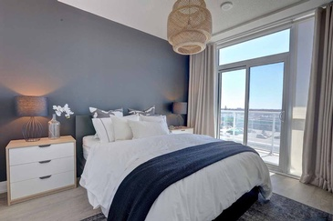 Contemporary Master Bedroom - Custom Furnishings in Oakville ON by Parsons Interiors Ltd.