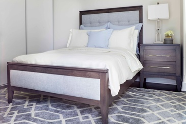 Transitional Bedroom - Custom Bedding in Oakville ON by Parsons Interiors Ltd.