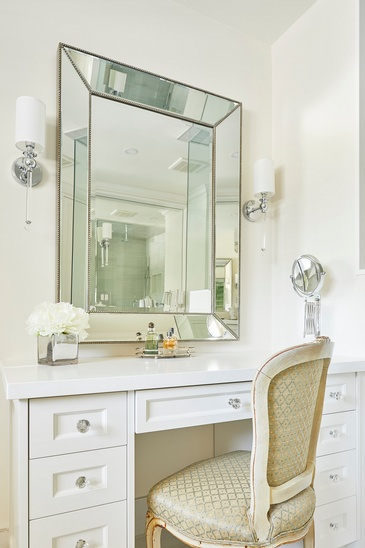 Master Bathroom Make-Up Vanity Custom Millwork - Bathroom Design Oakville by Parsons Interiors Ltd.