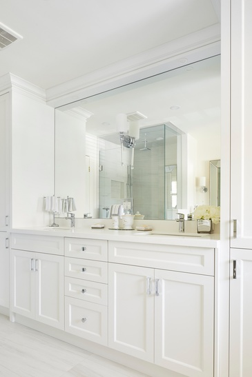 Master Bathroom Vanity Custom Millwork - Bathroom Design Oakville ON by Parsons Interiors Ltd.