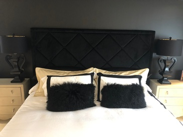 Glam Headboard - Interior Design Consultants in Oakville ON at Parsons Interiors Ltd.