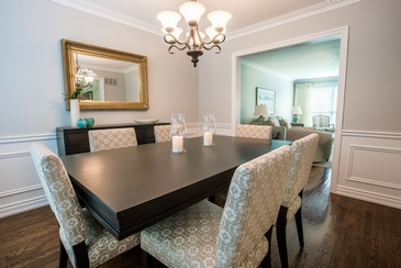 Dining Room - Interior Decorator in Oakville ON at Parsons Interiors Ltd.
