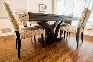 Dining Room Table - Interior Design Services in Oakville by Parsons Interiors Ltd.