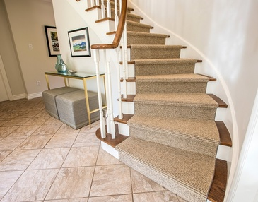 Entryway Stairs - Interior Decorating Services Oakville by Parsons Interiors Ltd.