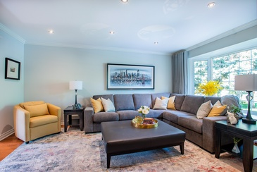 Complete Living Room Make Over - Home Interior Furniture in Mississauga ON by Parsons Interiors Ltd.