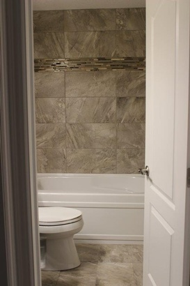 Basement Bathroom Door - Basement Framing Calgary by Affordable Basement Renovations Ltd