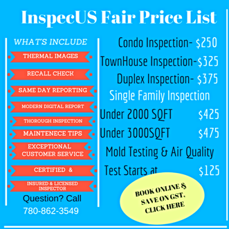 Home Inspection Cost in Edmonton
