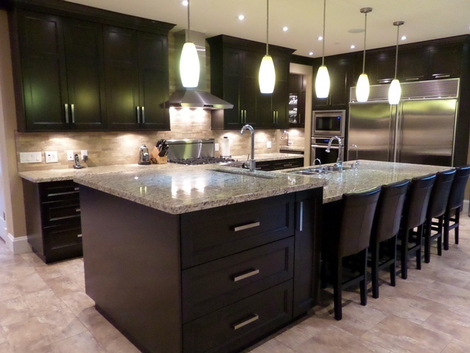 Maple Ridge Residence's Custom Kitchen Interior Design by Monica Rose Designs