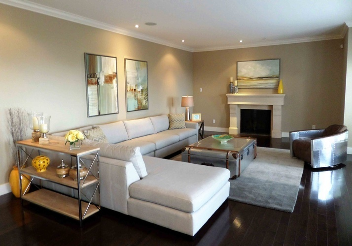 West Vancouver Living Room design by Monica Rose Designs