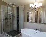 Maple Ridge Residence's Restroom design  by Monica Rose Designs - Interior Design Firm Port Coquitlam