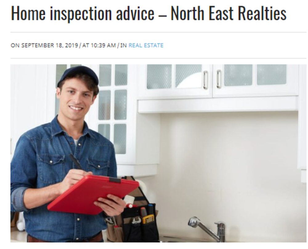 Home inspection advice - North East Realties – Mtltimes ca.png