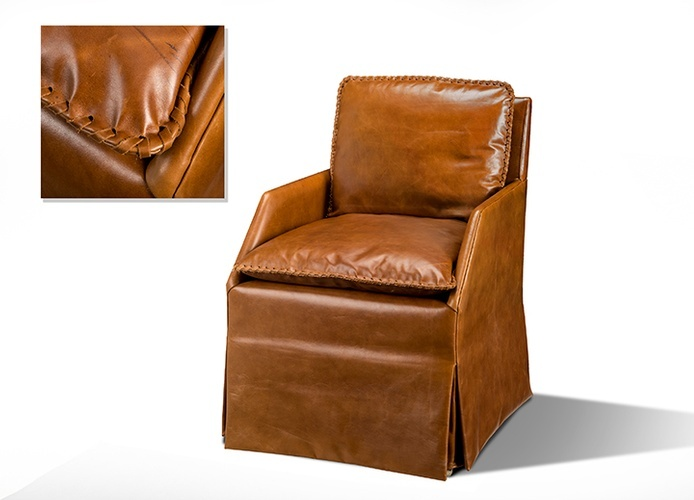 Caramel Brown color Studio Chair at ViVi Upholstery