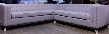 White Corner Sofa at ViVi Upholstery - Custom Furniture Upholstery GTA