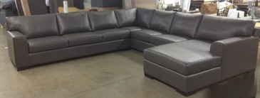 Grey Living Room Sectional Sofa at ViVi Upholstery -  Residential Furniture Manufacturers North York