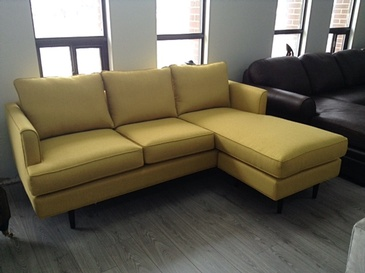 Yellow Corner Sofa Bed at ViVi Upholstery - Custom Furniture Upholstery in North York