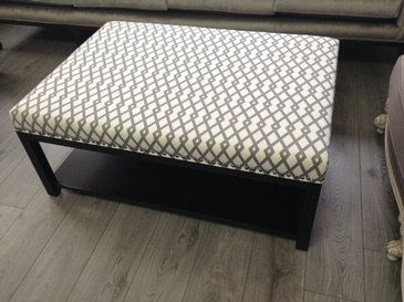 Upholstered Fabric Ottoman at  ViVi Upholstery  - Custom Furniture Manufacturing GTA